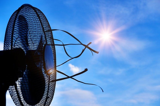 A Cooling fan on a hot day